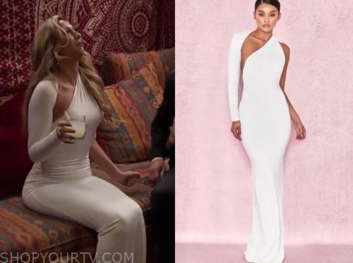 white asymmetric gown, natascha, listen to your heart