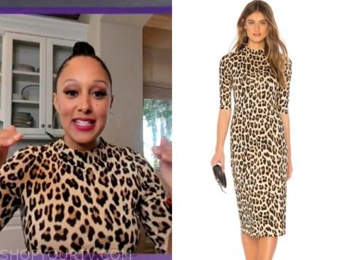 tamera mowry, leopard dress, the real