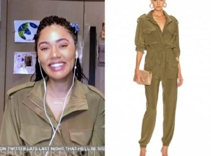 ayesha curry, the today show, green jumpsuit