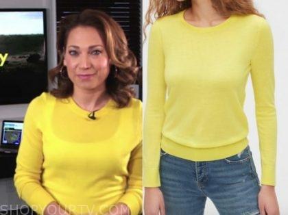 ginger zee, yellow sweater, good morning america