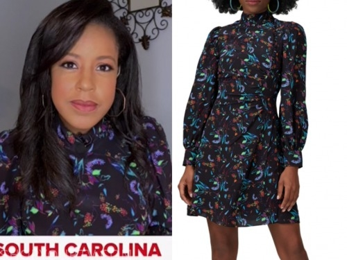 sheinelle jones, the today show, black floral dress