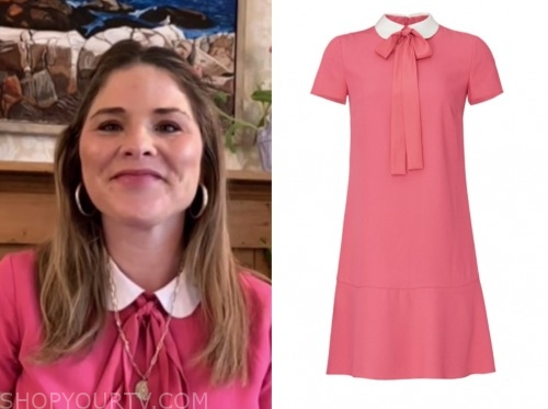 jenna bush hager, the today show, pink collar dress
