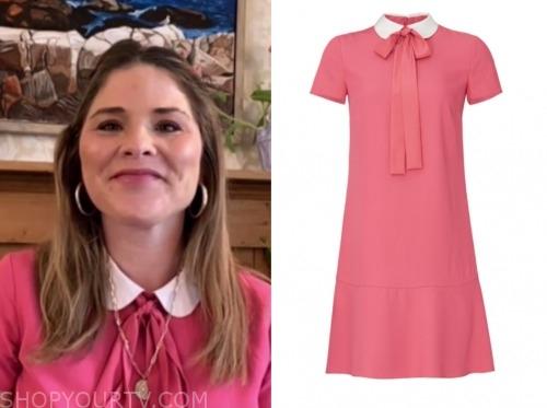 jenna bush hager, the today show, pink collar dress