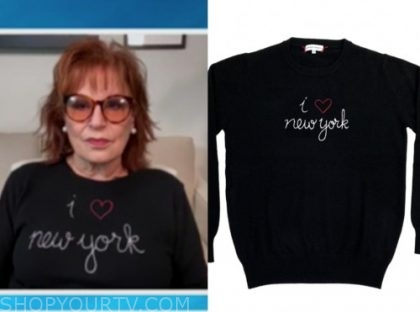 joy behar, black i heart nyc sweater, the view