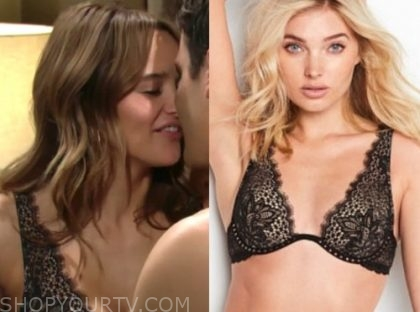 summer newman, hunter king, the young and the restless, black lace bra