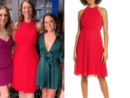 jessica, married at first sight, red pleated dress, reunion