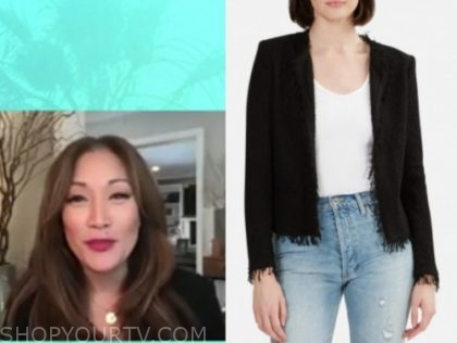 carrie ann inaba, the talk, black frayed edge jacket