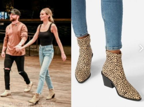 lauren lane, the bachelor, leopard booties
