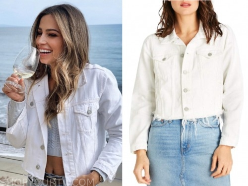Kristina schulman, the bachelor, white denim jacket