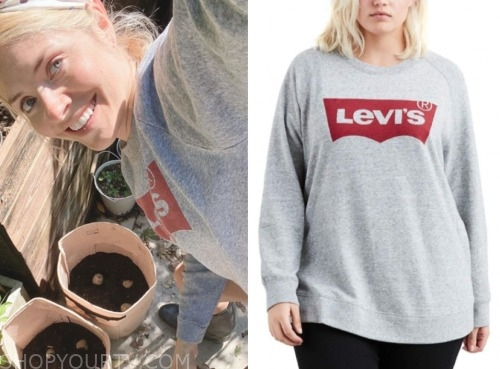 levis sweatshirt, holly willoughby