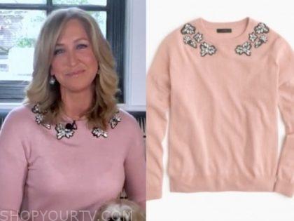 lara spencer, good morning america, pink sweater