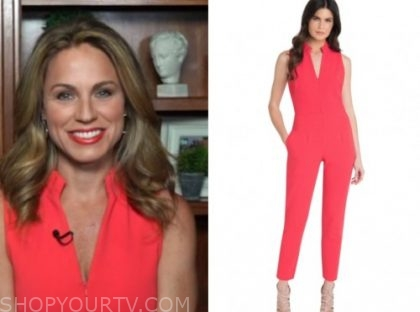 dr. nicole saphier, fox and friends, red zipper jumpsuit