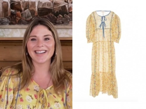 jenna bush hager, the today show, yellow floral dress