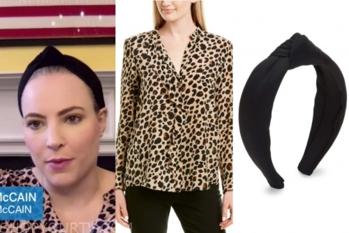 meghan mccain, the view, black headband, leopard blouse