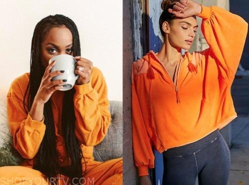 rachel lindsay, the bachelorette, orange hoodie