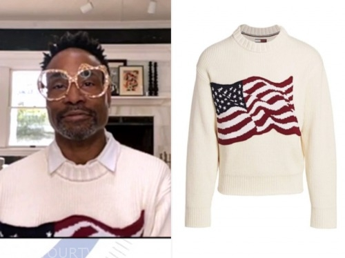 billy porter, good morning america, white american flag sweater
