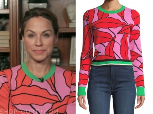 dr. nicole saphier, fox and friends, floral sweater