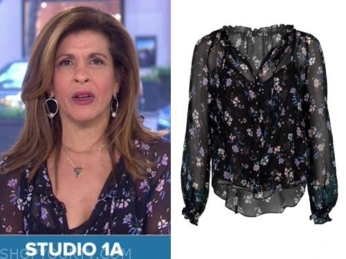 hoda kotb, the today show, floral blouse