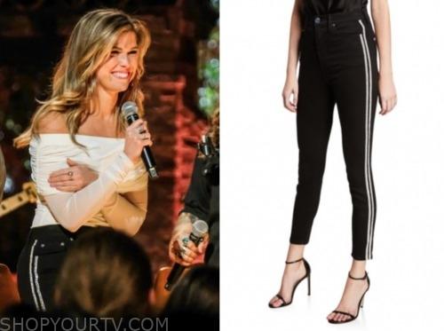 julia, listen to your heart, side stripe jeans