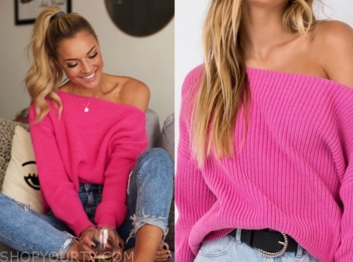 savannah, listen to your heart, pink sweater
