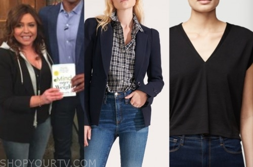 rachael ray, the rachael ray show, navy blazer, black top