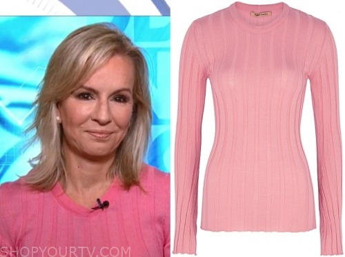 dr. jennifer ashton, pink ribbed long sleeve top, good morning america