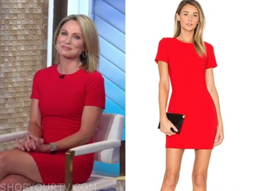 amy robach, good morning america, red mini dress