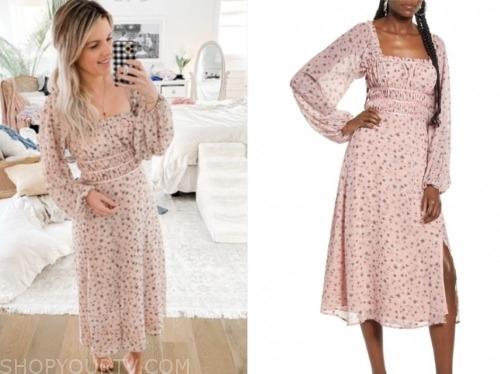 ali fedotowsky, the bachelorette, pink floral midi dress