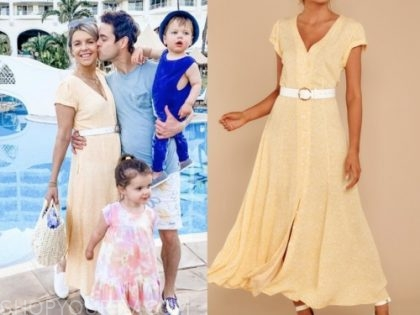 ali fedotowsky, the bachelorette, yellow midi dress