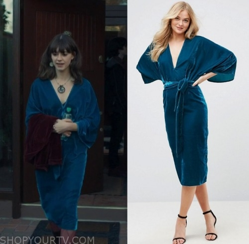 Normal People Season 1 Episode 5 Marianne S Blue Velvet Kimono Dress Shop Your Tv