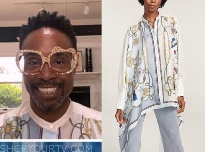 billy porter, nautical shirt, the view