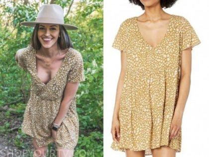 tia booth, animal print dress, the bachelor