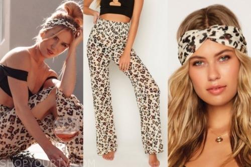 lauren burnham, the bachelor, leopard pants, leopard headband
