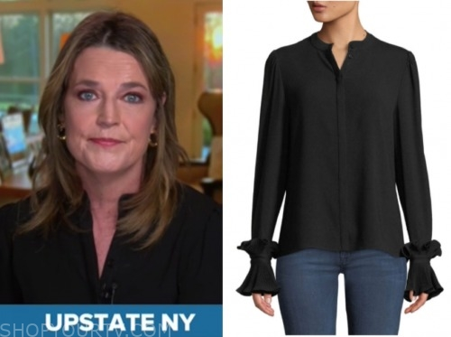 the today show, savannah guthrie, black blouse
