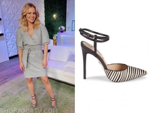 candace cameron bure, zebra heels