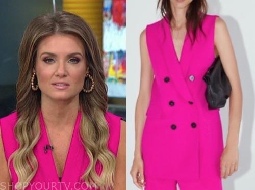 jillian mele, fox and friends, hot pink vest
