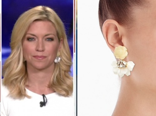 ainsley earhardt, fox and friends, flower drop earrings