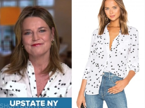 savannah guthrie, the today show, star print blouse