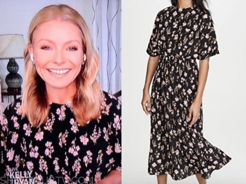 live with kelly and ryan, kelly ripa, floral cape midi dress