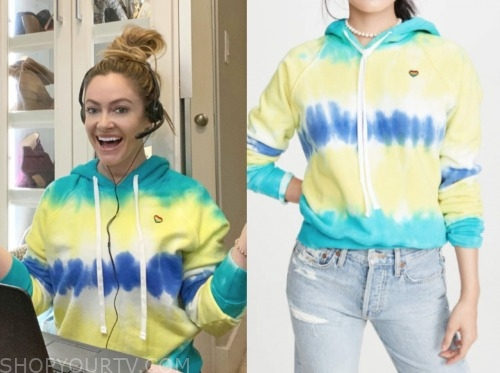 molly mesnick, the bachelor, yellow tie dye hoodie