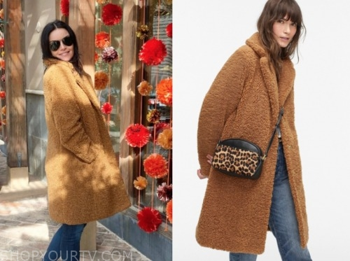 courtney robertson, brown teddy coat, the bachelor