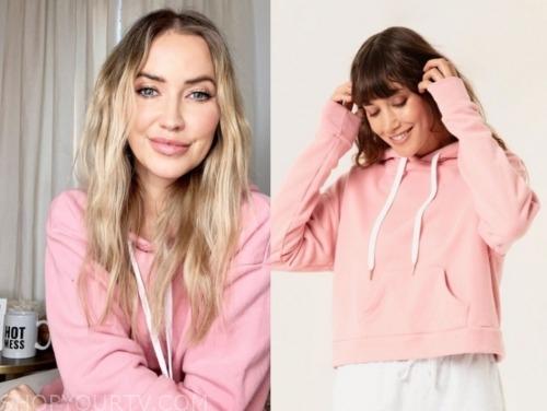 kaitlyn bristowe, the bachelorette, pink cropped hoodie