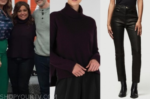 rachael ray, the rachael ray show, purple turtleneck, black pants