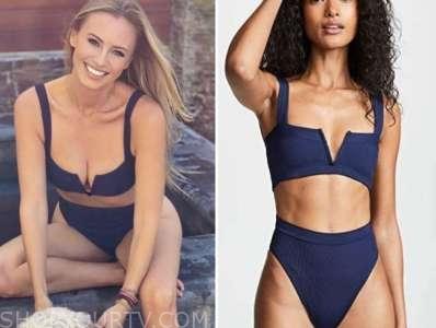 annaliese puccini, the bachelor, navy blue bikini