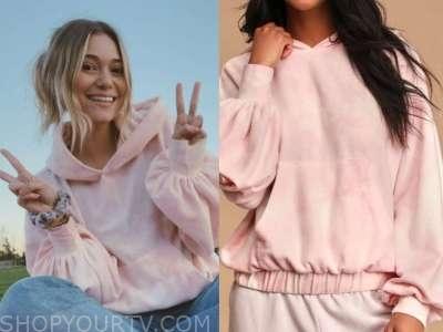 mykenna dorn, the bachelor, pink tie dye hoodie