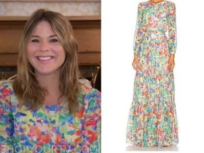 jenna bush hager, the today show, floral maxi dress