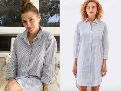 ashlee frazier, the bachelor, striped shirt dress