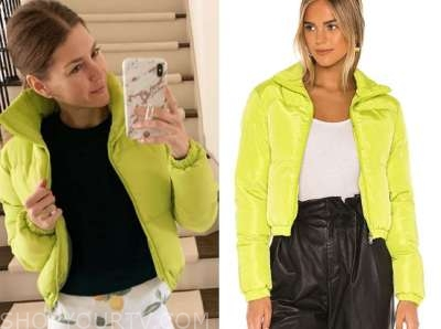 ashlee frazier, the bachelor,lime green puffer jacket