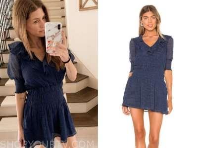 ashlee frazier, navy blue ruffle dress, the bachelor