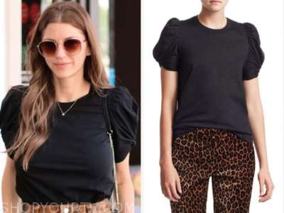 ashlee frazier, black puff sleeve top, the bachelor